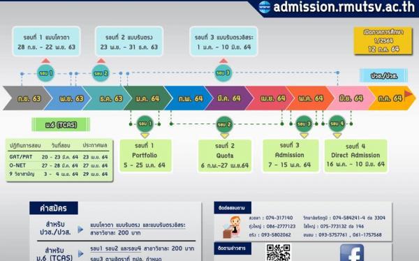 มทร.ศรีวิชัย เปิดรับสมัครนักศึกษาใหม่ประจำปีการศึกษา 2564